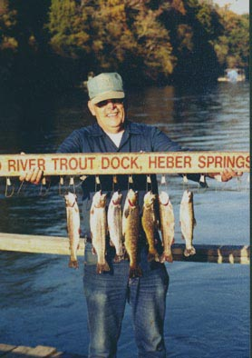 Red river trout dock for Fishing resorts in arkansas